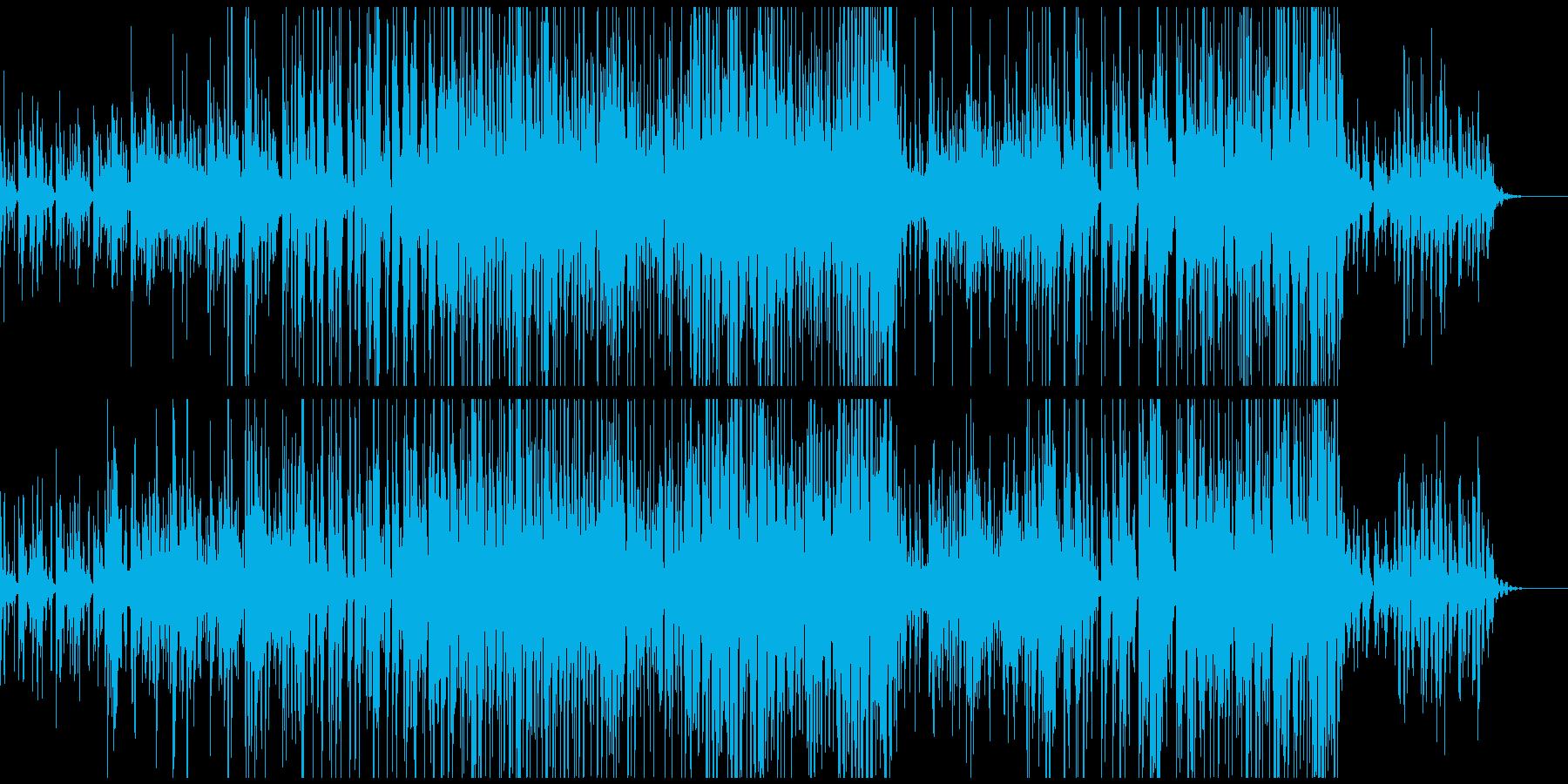 未来っぽい雰囲気のBGMの再生済みの波形