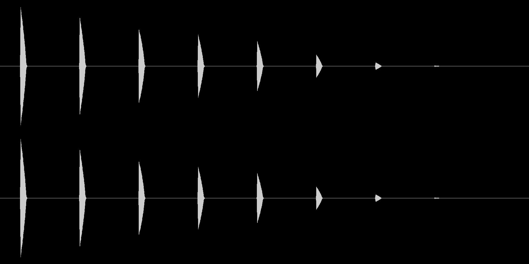 【アクセント41-3】の未再生の波形