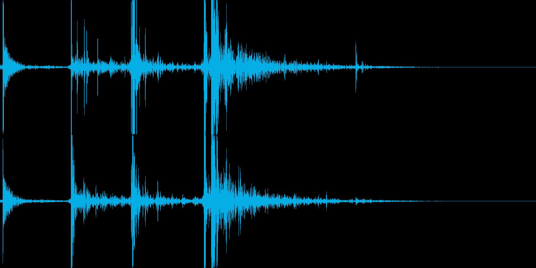 ビリヤードのブレイクショットの再生済みの波形