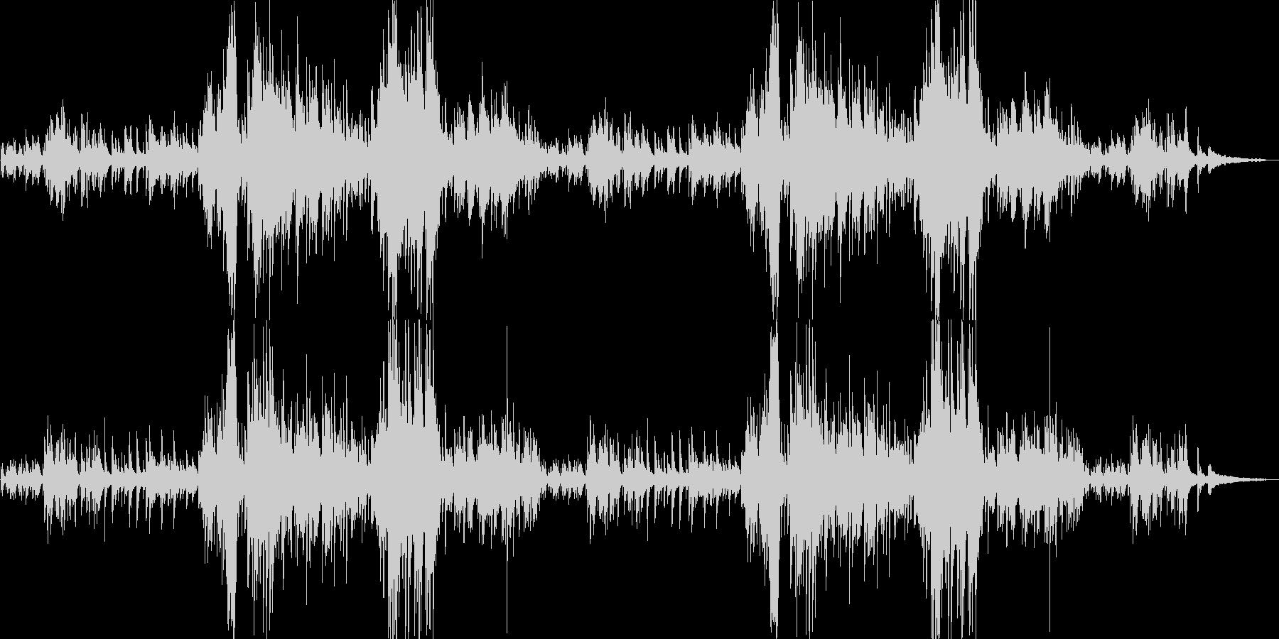 美しき癒しのピアノソロバラードの未再生の波形