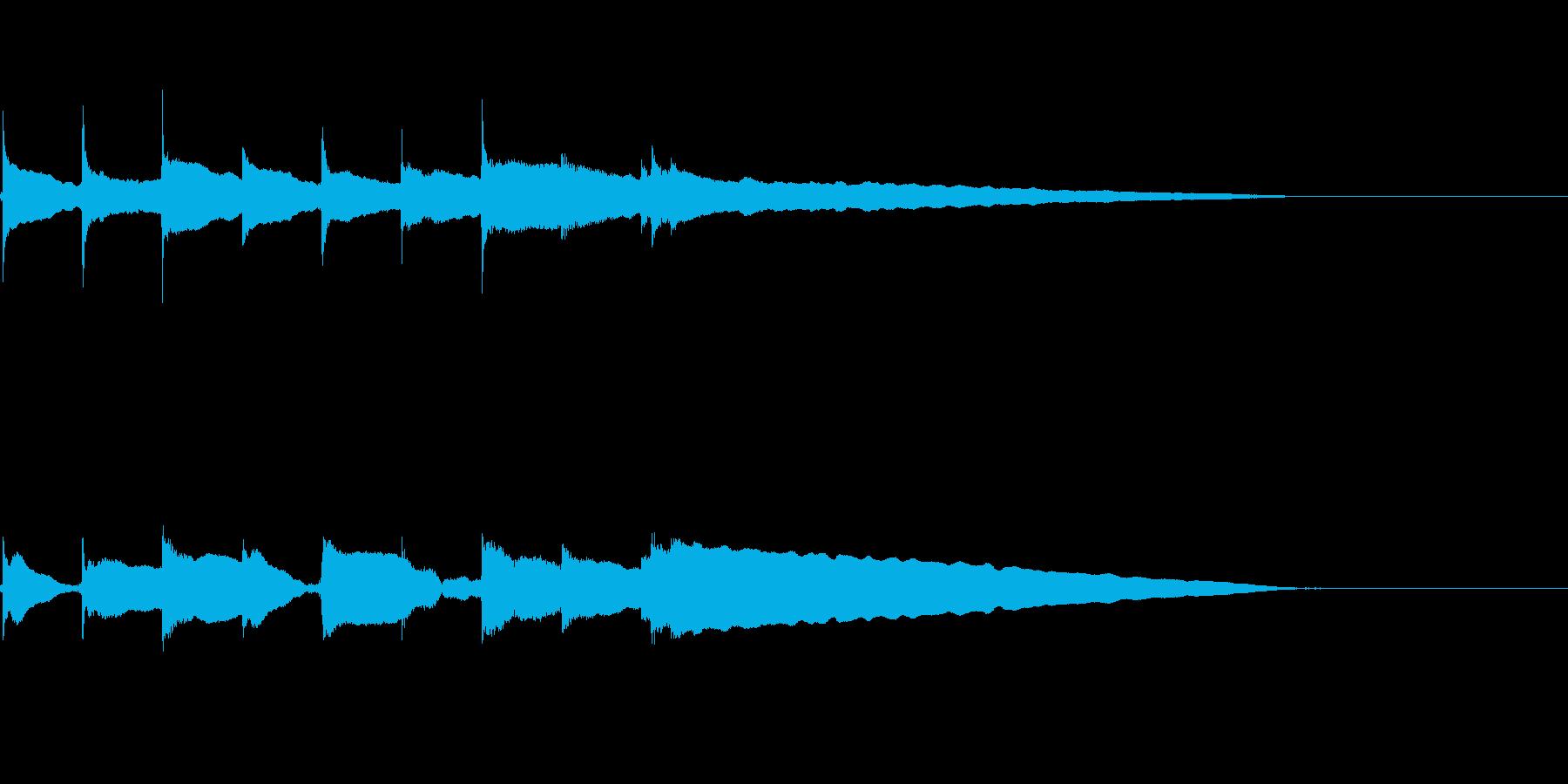 ジングル ロゴ おやすみ  の再生済みの波形