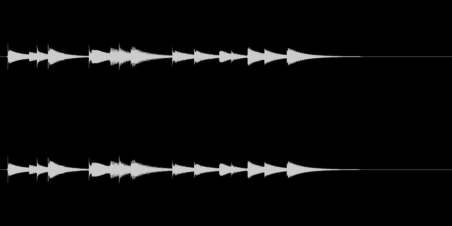 オルゴールアイキャッチ音色違いですの未再生の波形