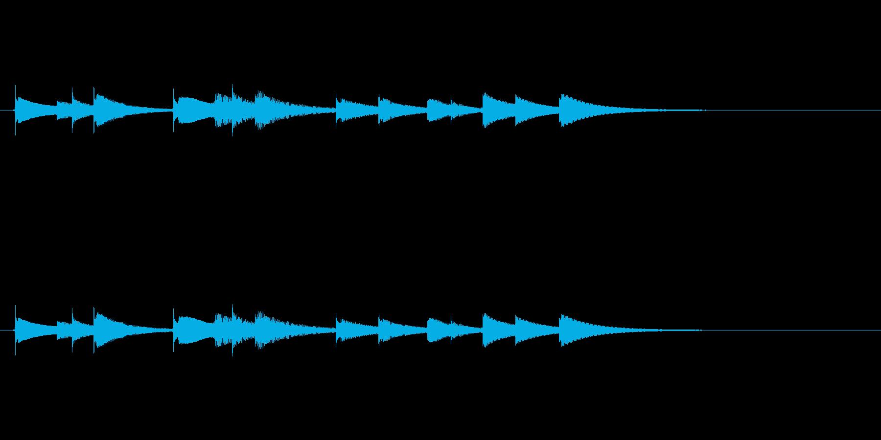 オルゴールアイキャッチ音色違いですの再生済みの波形