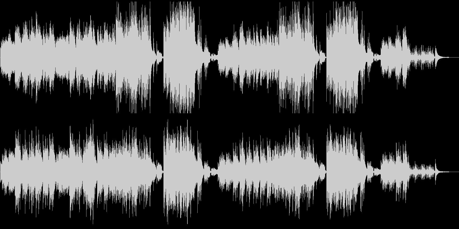 感動映像のためのピアノとオーボエの未再生の波形