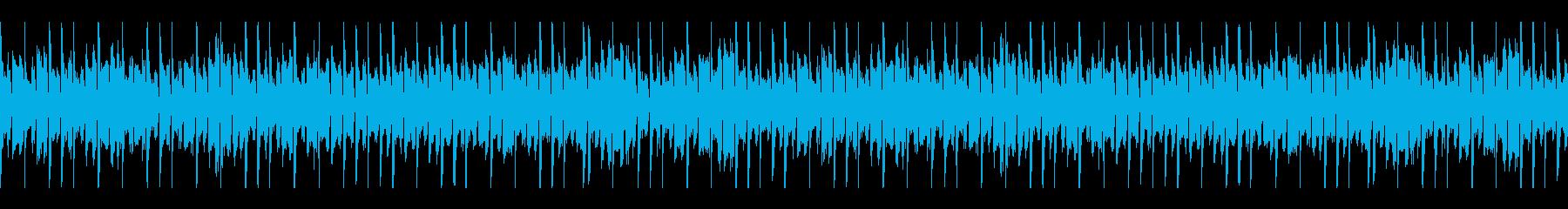 疾走感のあるループ BGMの再生済みの波形