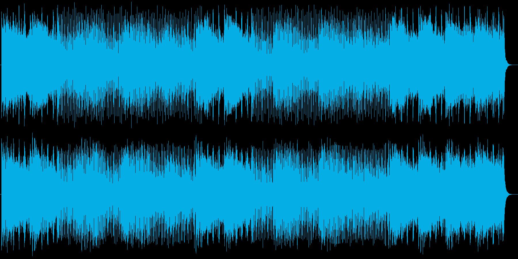 クールでロックでヘビーなエレキサウンドの再生済みの波形