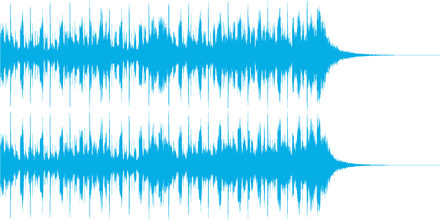 CMあけジングルの再生済みの波形