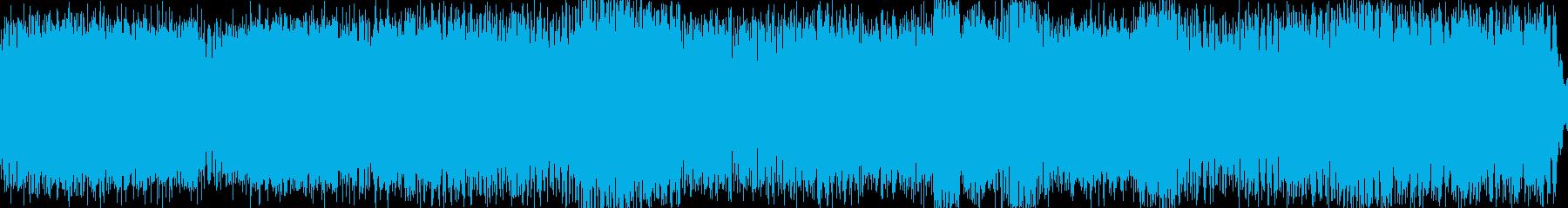 ダークで幻想的なテクノの再生済みの波形