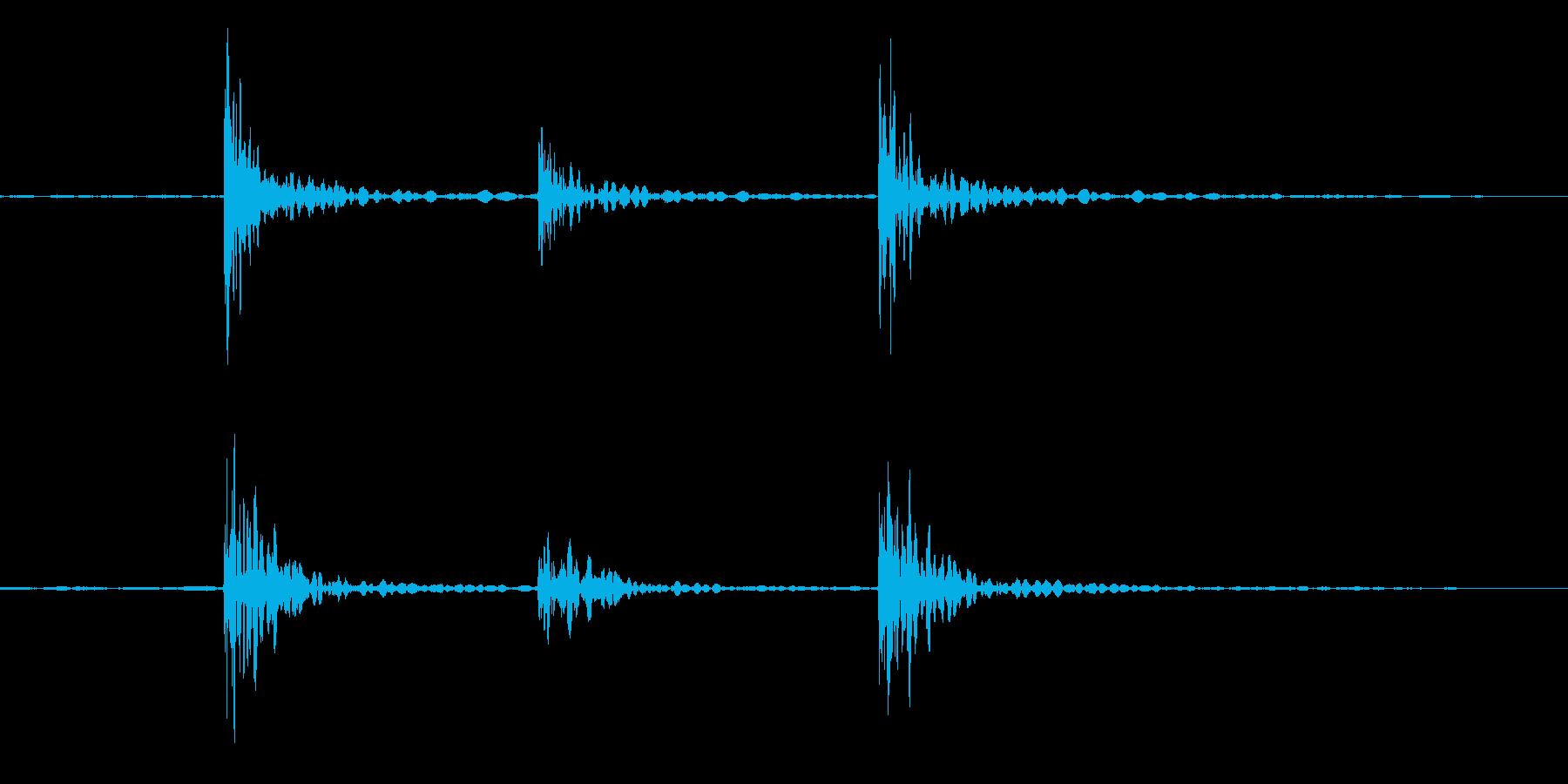 ノックの再生済みの波形