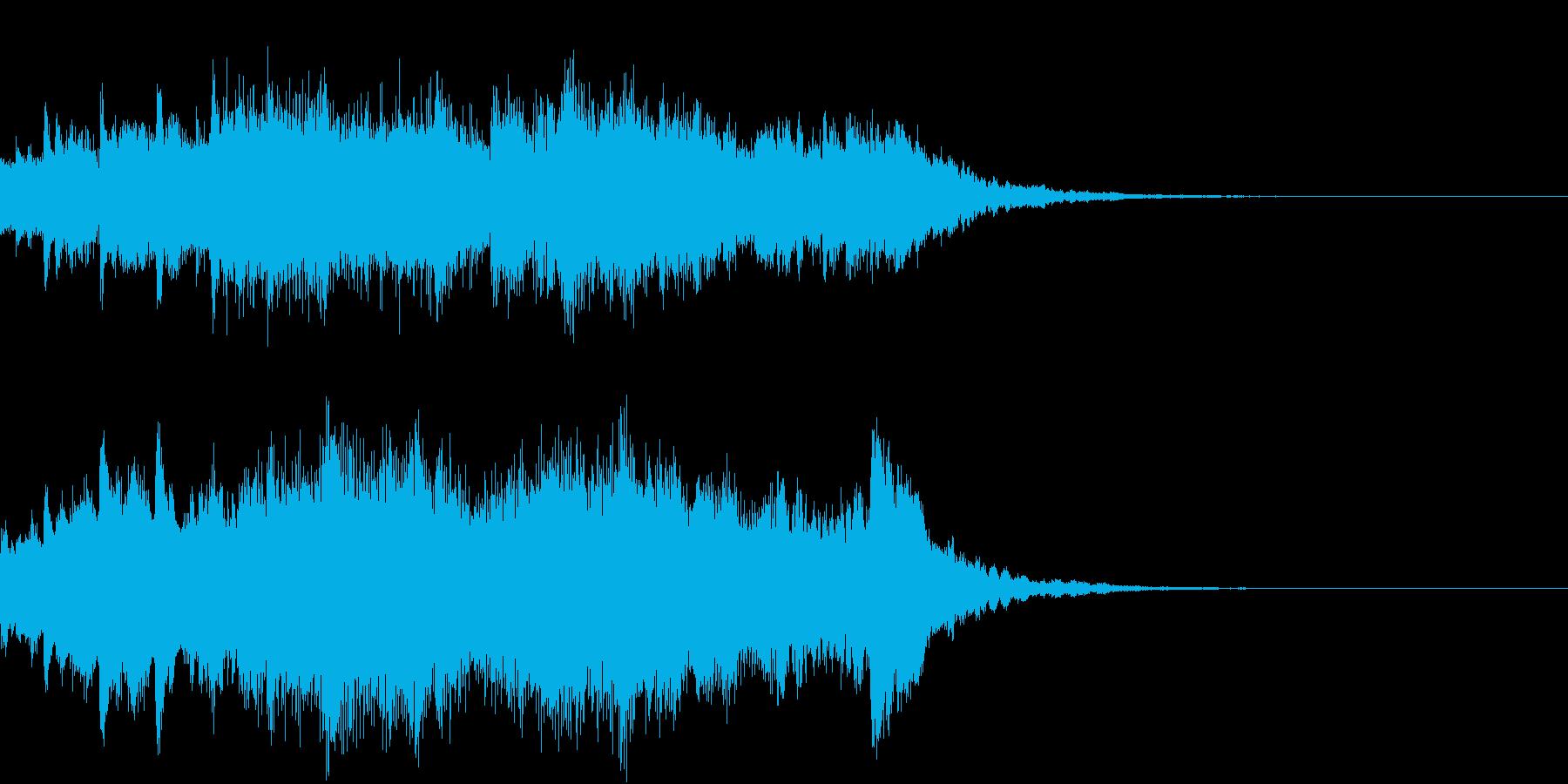 切なく幻想的なピアノの再生済みの波形