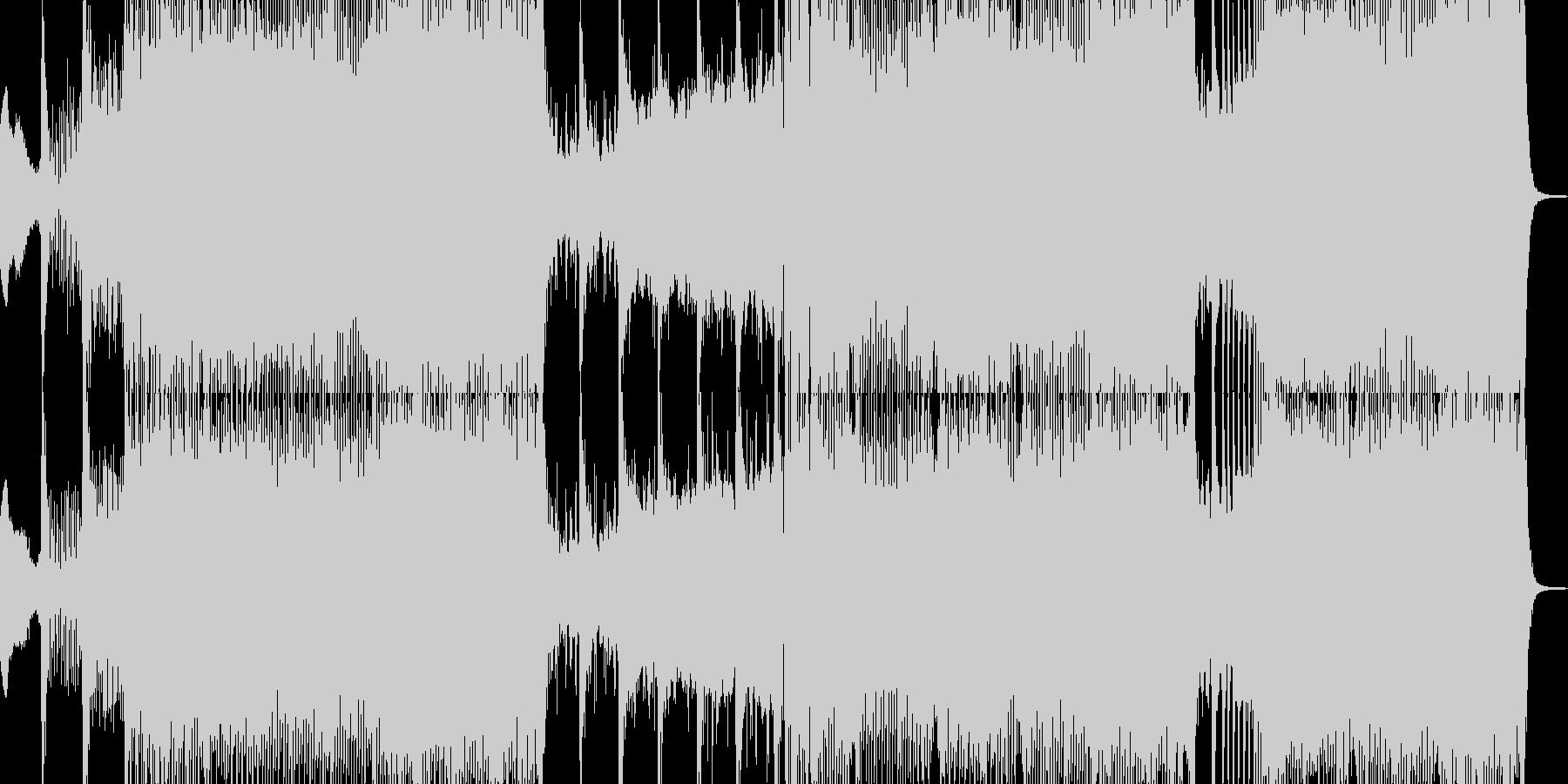 攻撃的でうねるシンセリードのトランスの未再生の波形