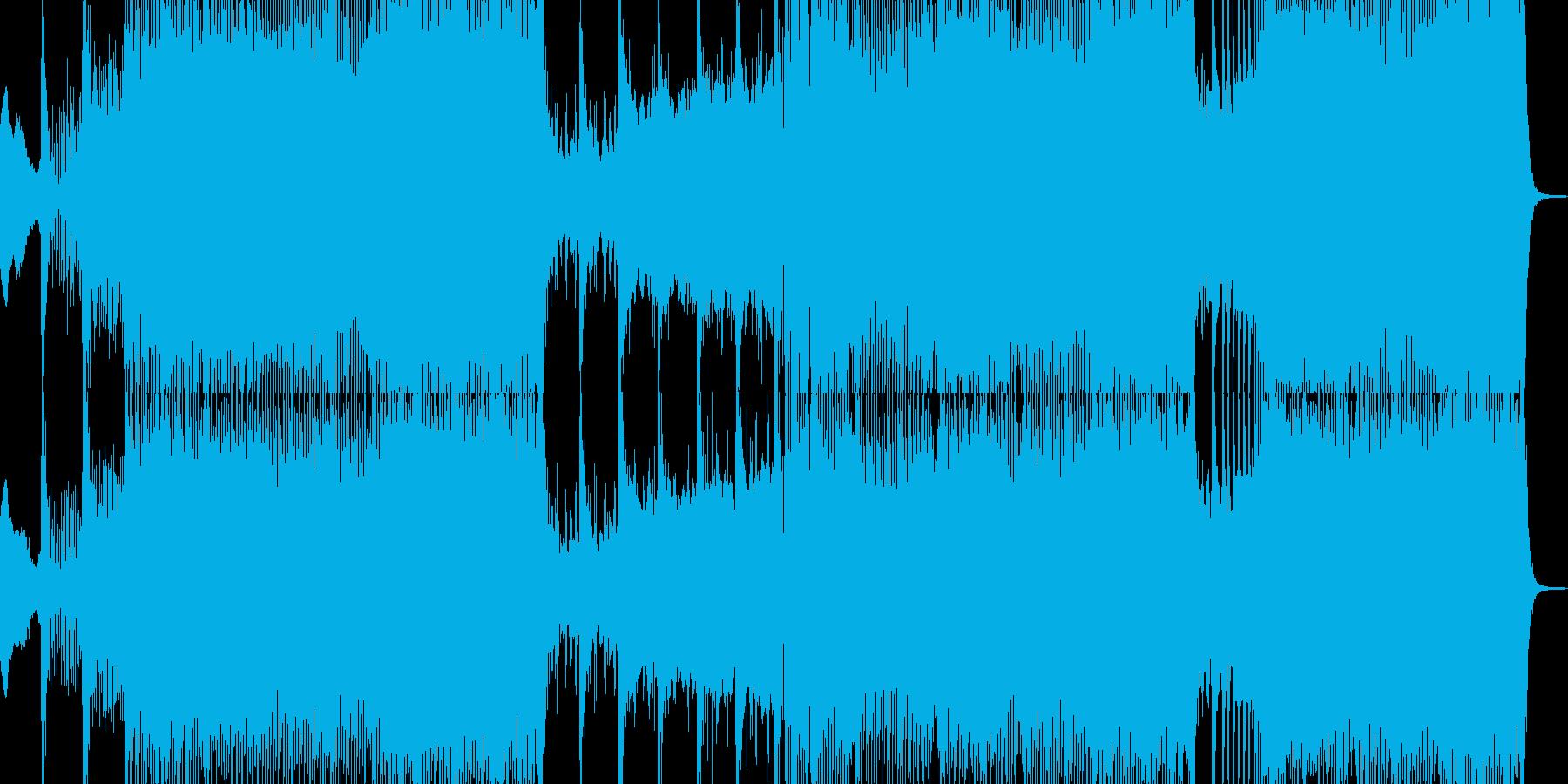 攻撃的でうねるシンセリードのトランスの再生済みの波形
