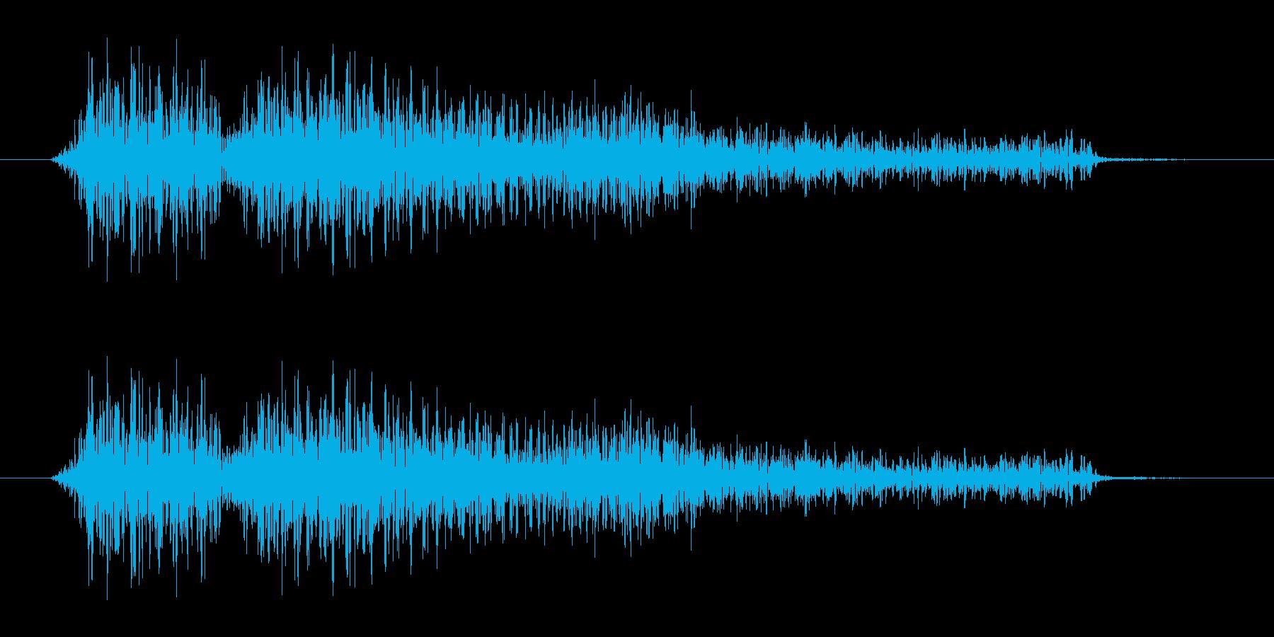 能力値を下げられたような少し不快な音ですの再生済みの波形