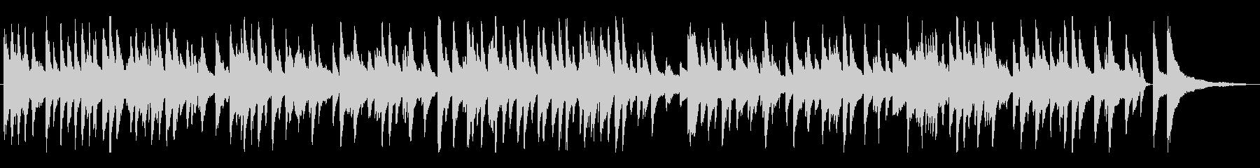 ピアノソロの正統派なラウンジミュージックの未再生の波形
