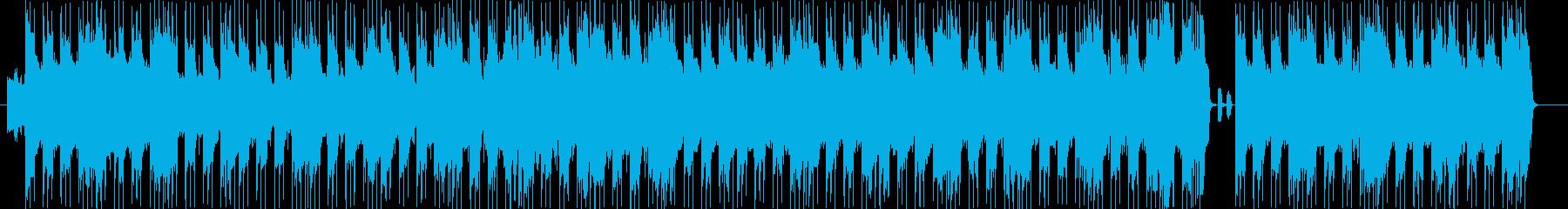 荒々しく野性的でワイルドなロックの再生済みの波形