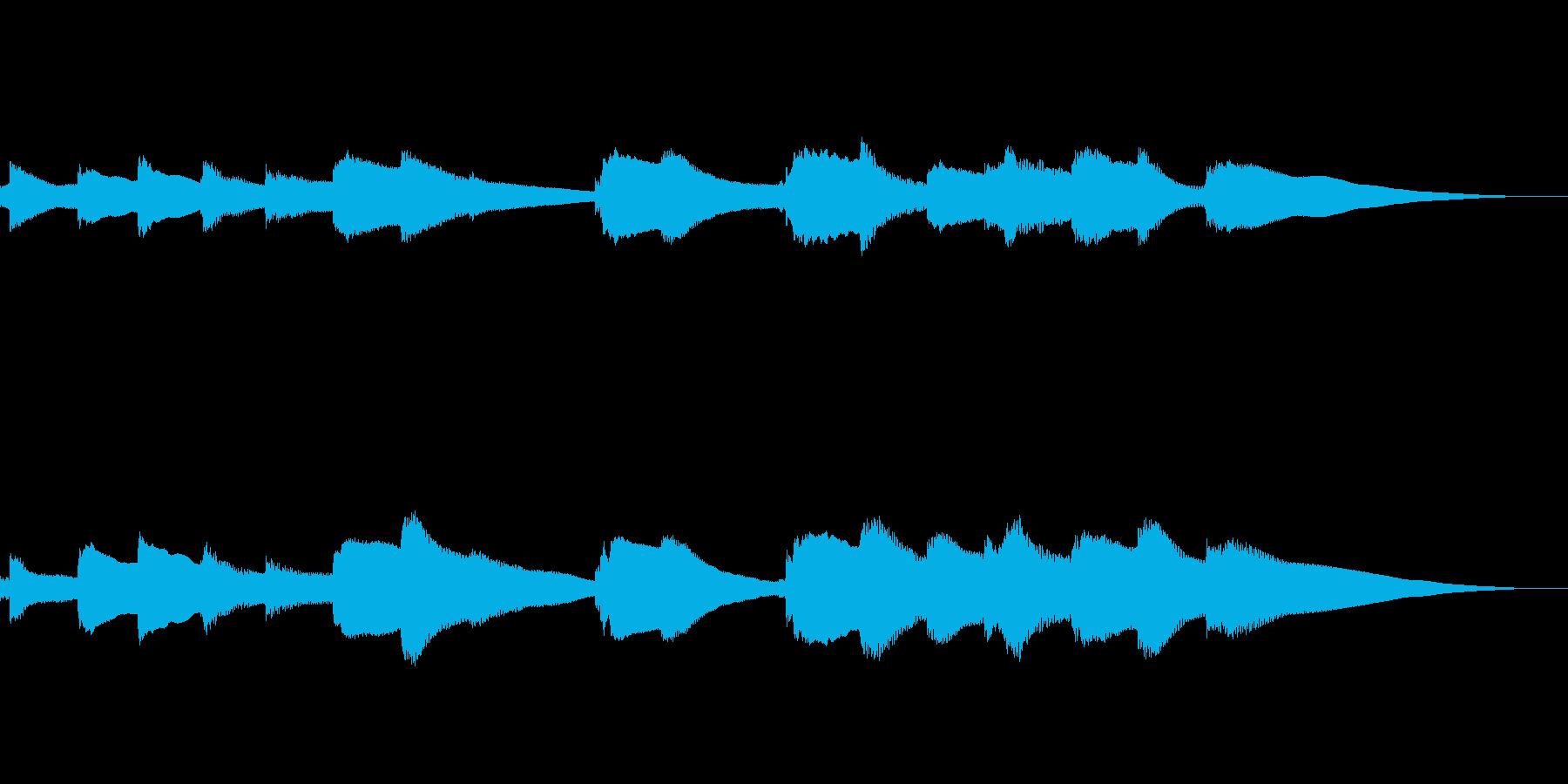 ゆったりとするジングル風BGMの再生済みの波形