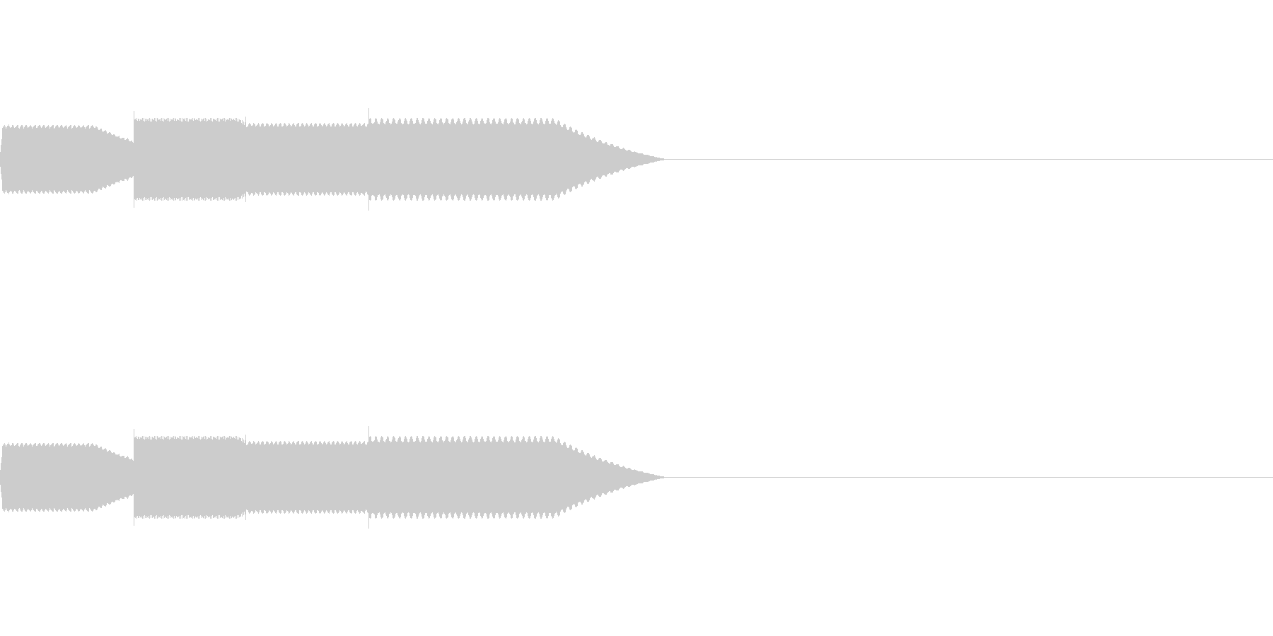 【SE 効果音】効果音その11の未再生の波形