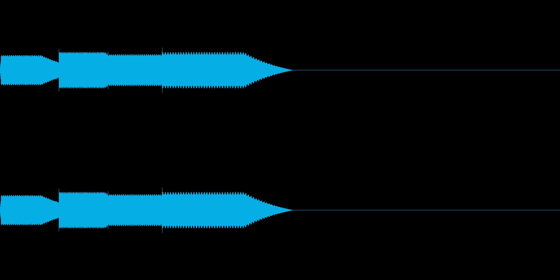 【SE 効果音】効果音その11の再生済みの波形