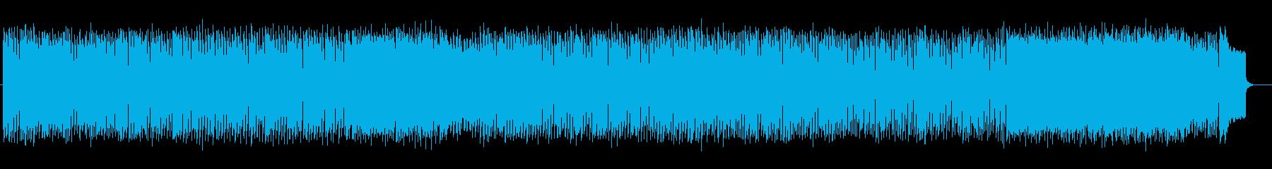 爽快感のあるテクノポップの再生済みの波形