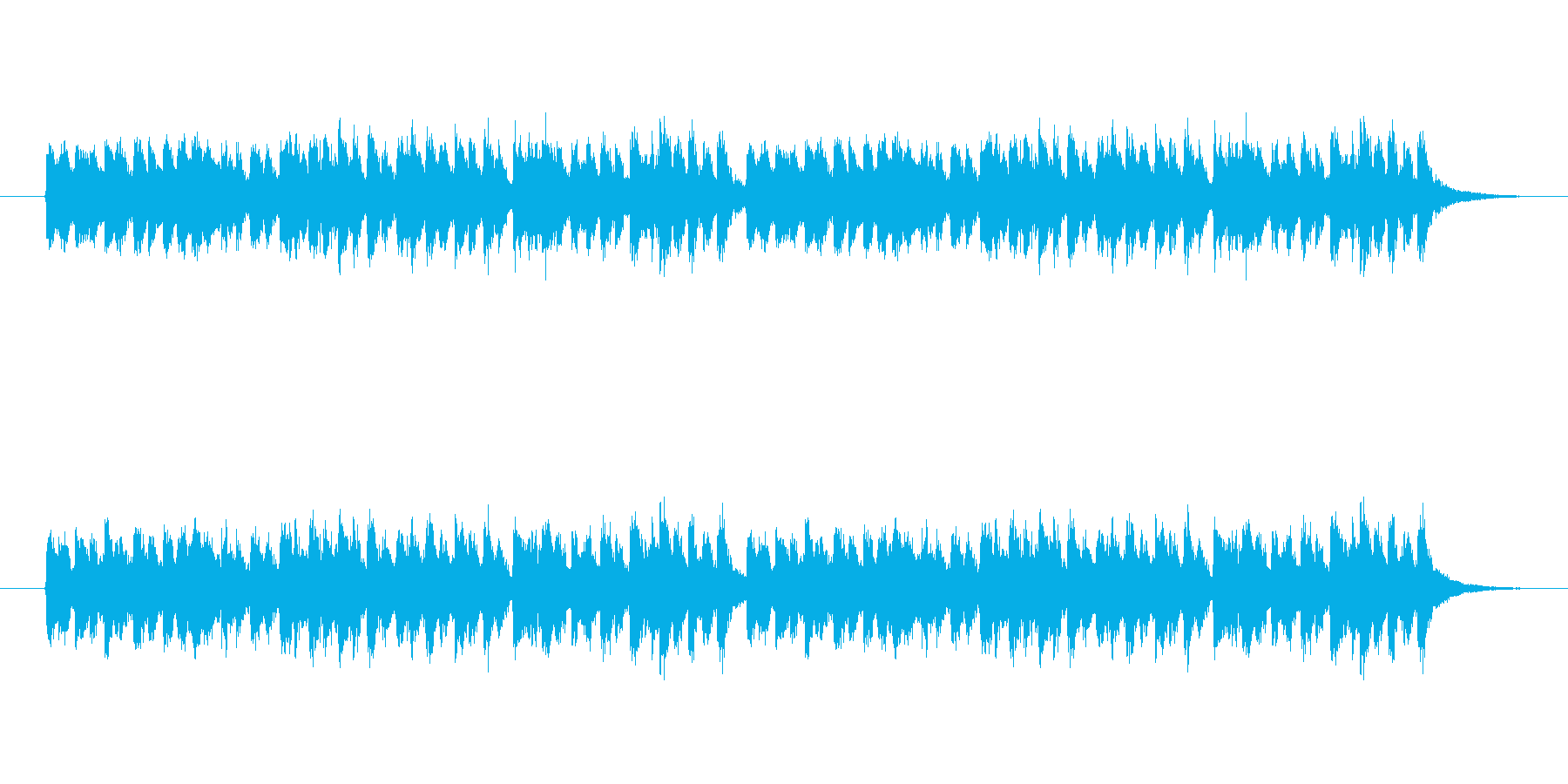 ロシア風のアコーディオンのジングルロングの再生済みの波形