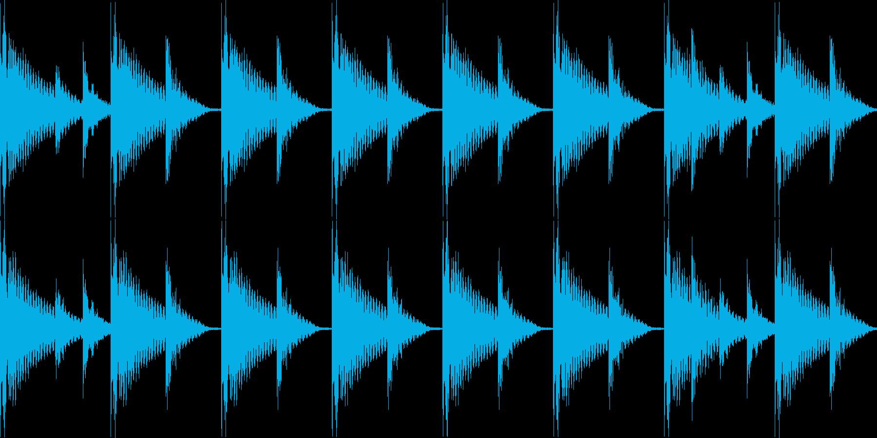 BPM128EDMリズムループ00013の再生済みの波形