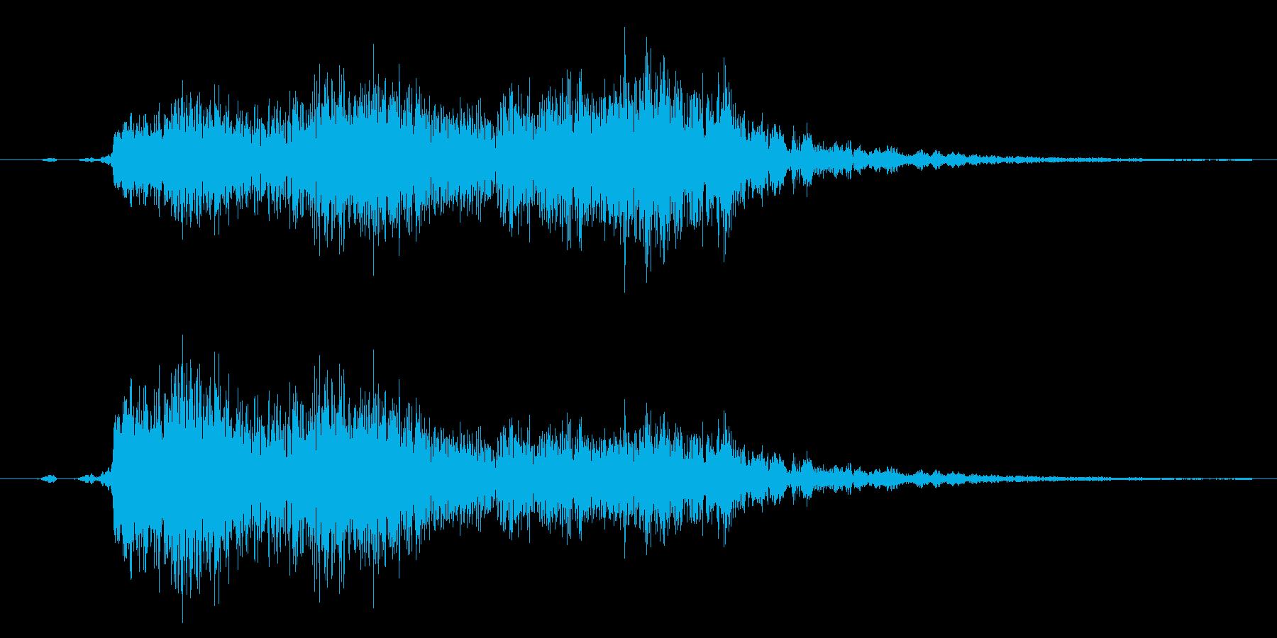 剣や刀の剣戟/抜刀/斬撃に最適な効果音!の再生済みの波形