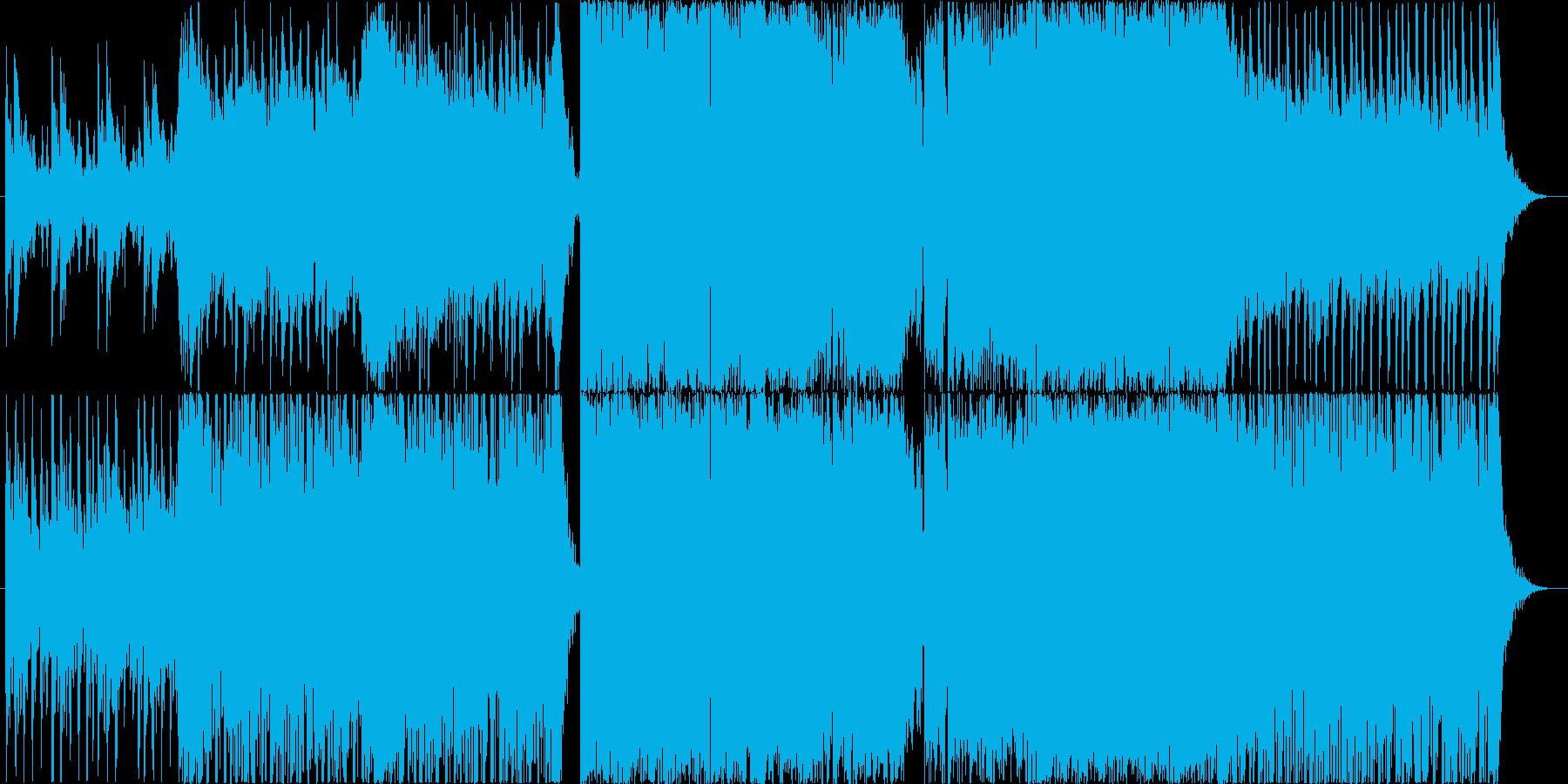 映画音楽 劇場音楽 ROCK 戦闘シーンの再生済みの波形