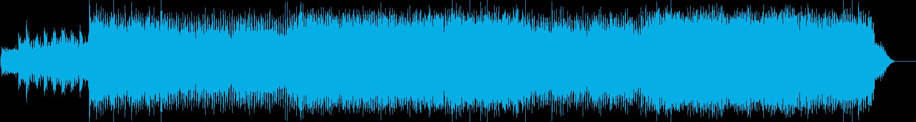 ノリの良い短調のダンスミュージックの再生済みの波形