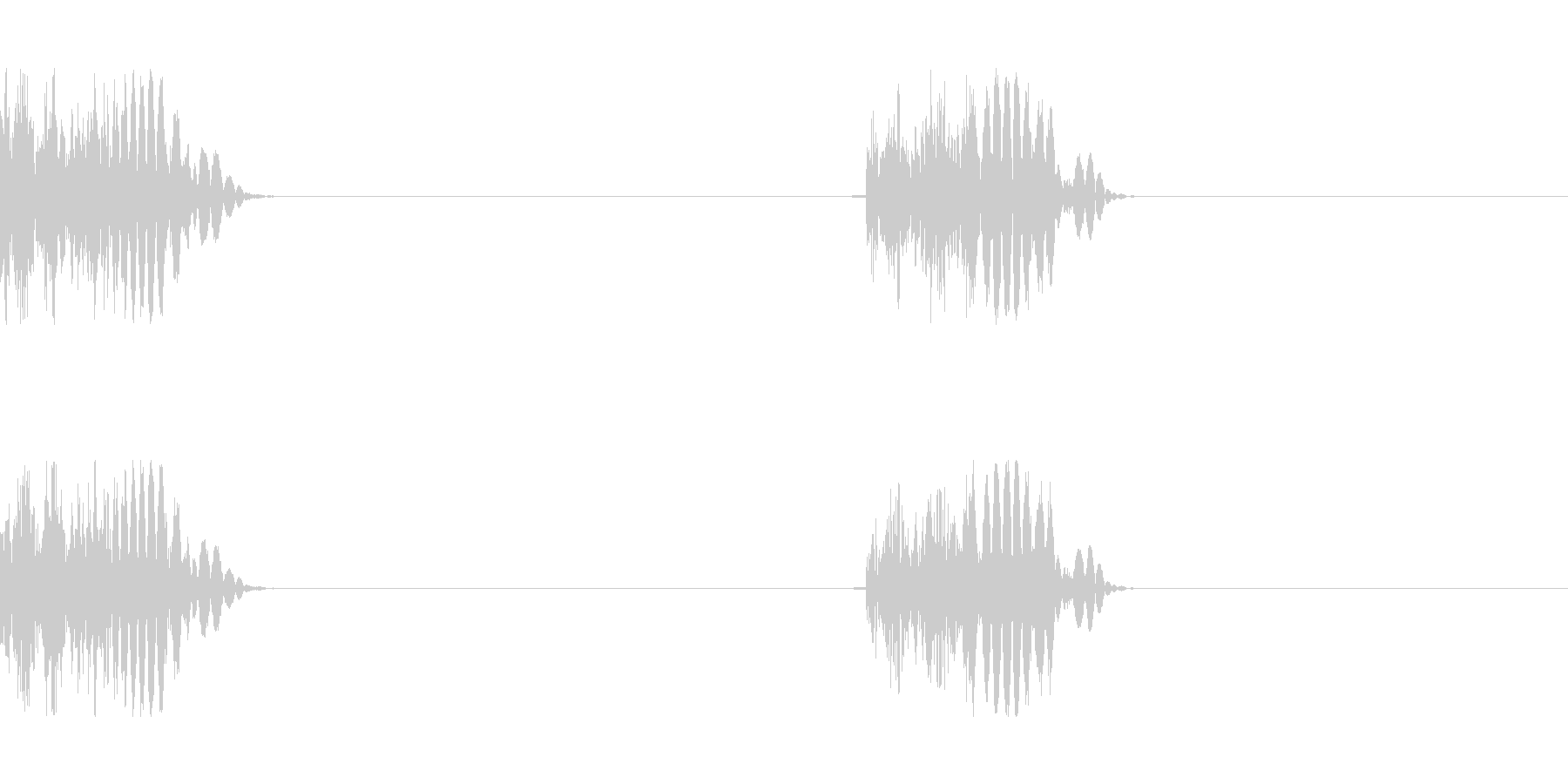 モンスターの足音 2の未再生の波形
