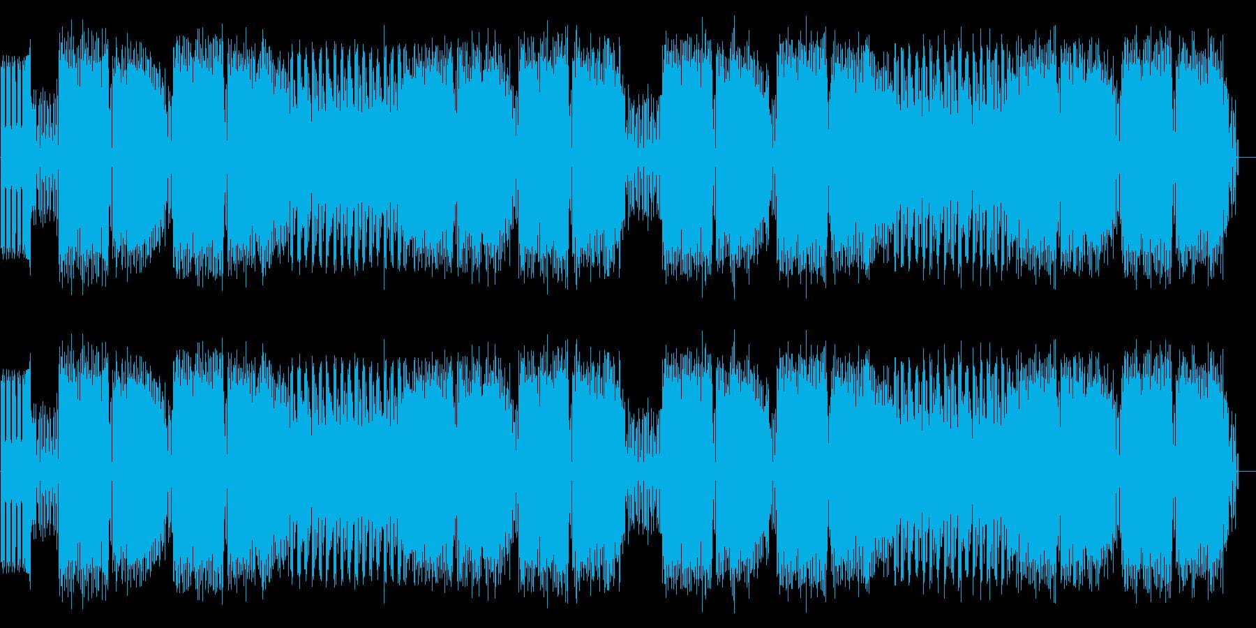 ファミコン音源を用いた戦闘BGMの再生済みの波形
