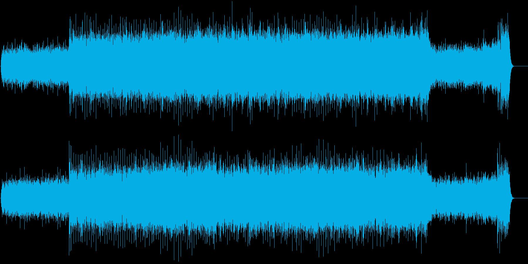 エスニックを取り入れたハードロックの再生済みの波形