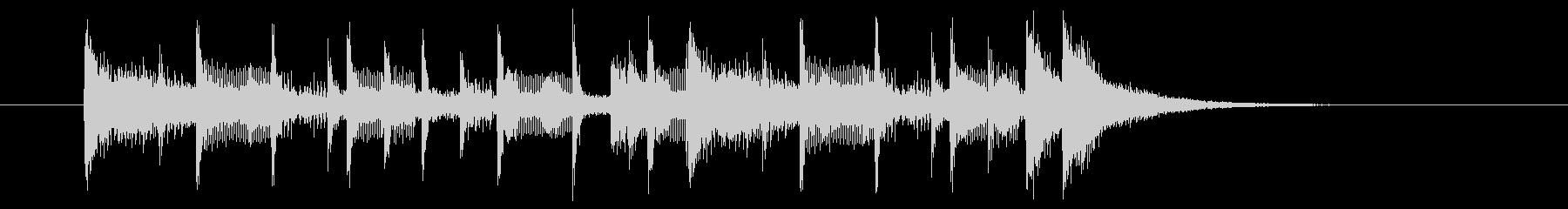 短めの明るい前向きなシンセサイザーの曲の未再生の波形