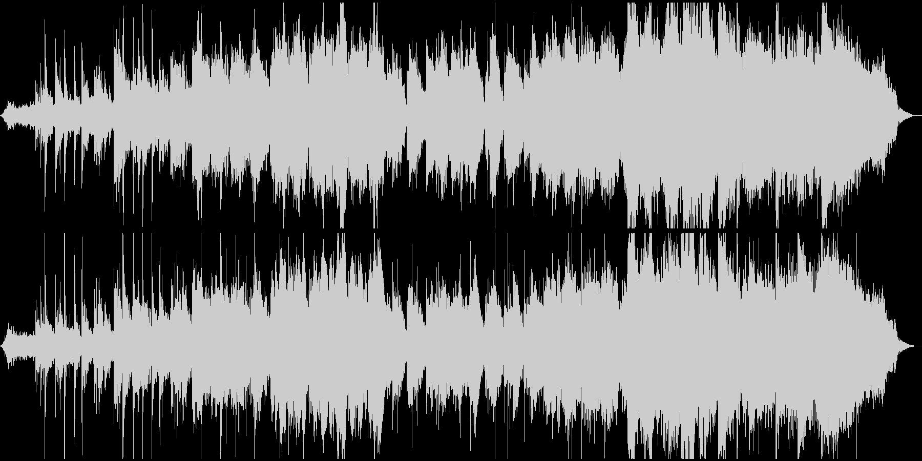 モンゴルの草原風のイメージのBGMの未再生の波形