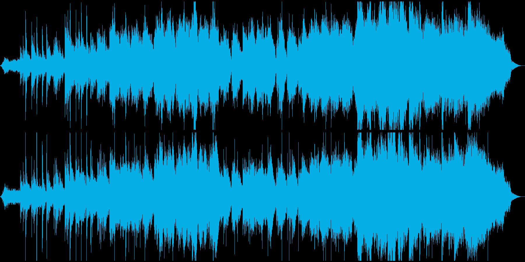 モンゴルの草原風のイメージのBGMの再生済みの波形