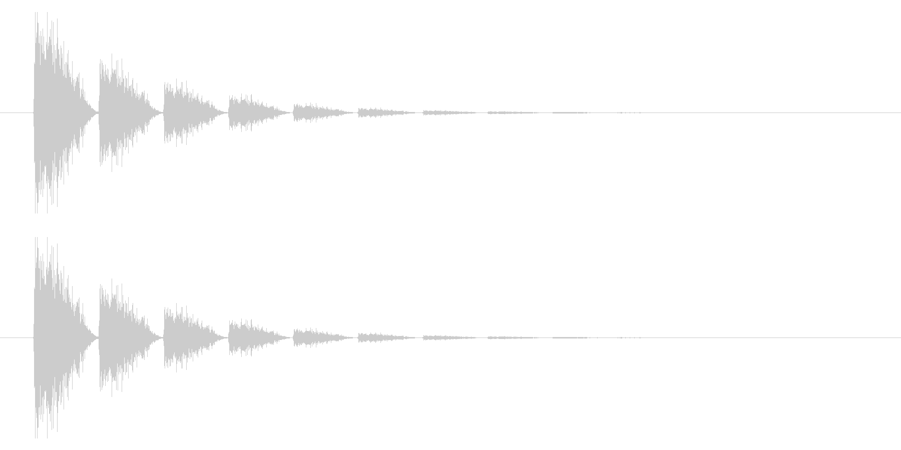 打撃07-6の未再生の波形