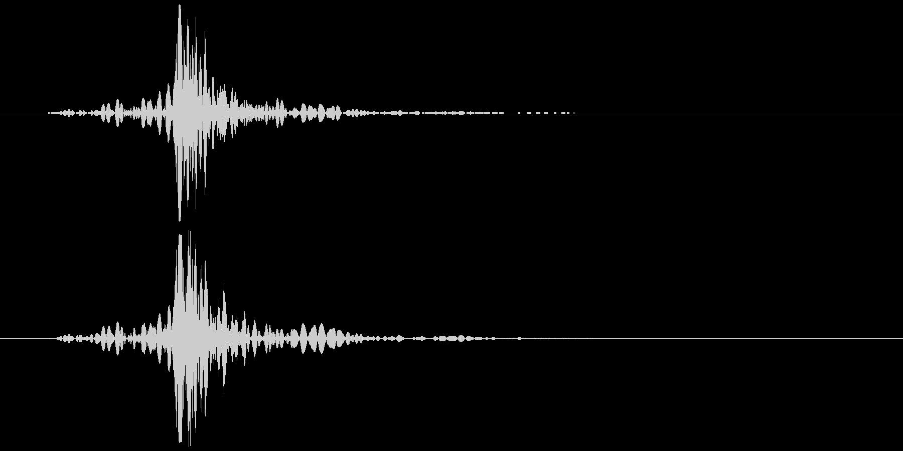 コンセント 抜く、挿す ズッ… 低めの未再生の波形