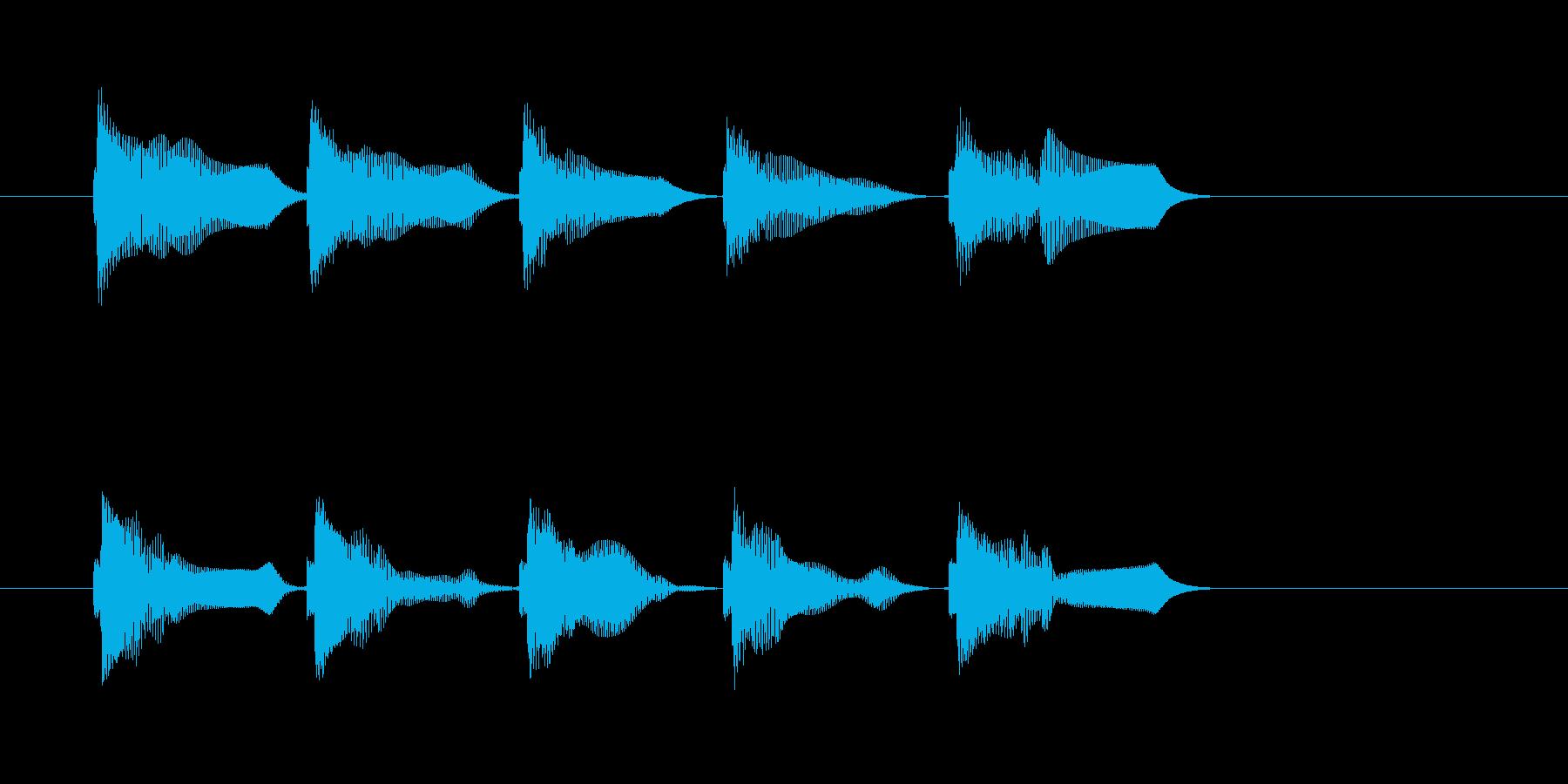 バネ_はねる_バウンド音の再生済みの波形