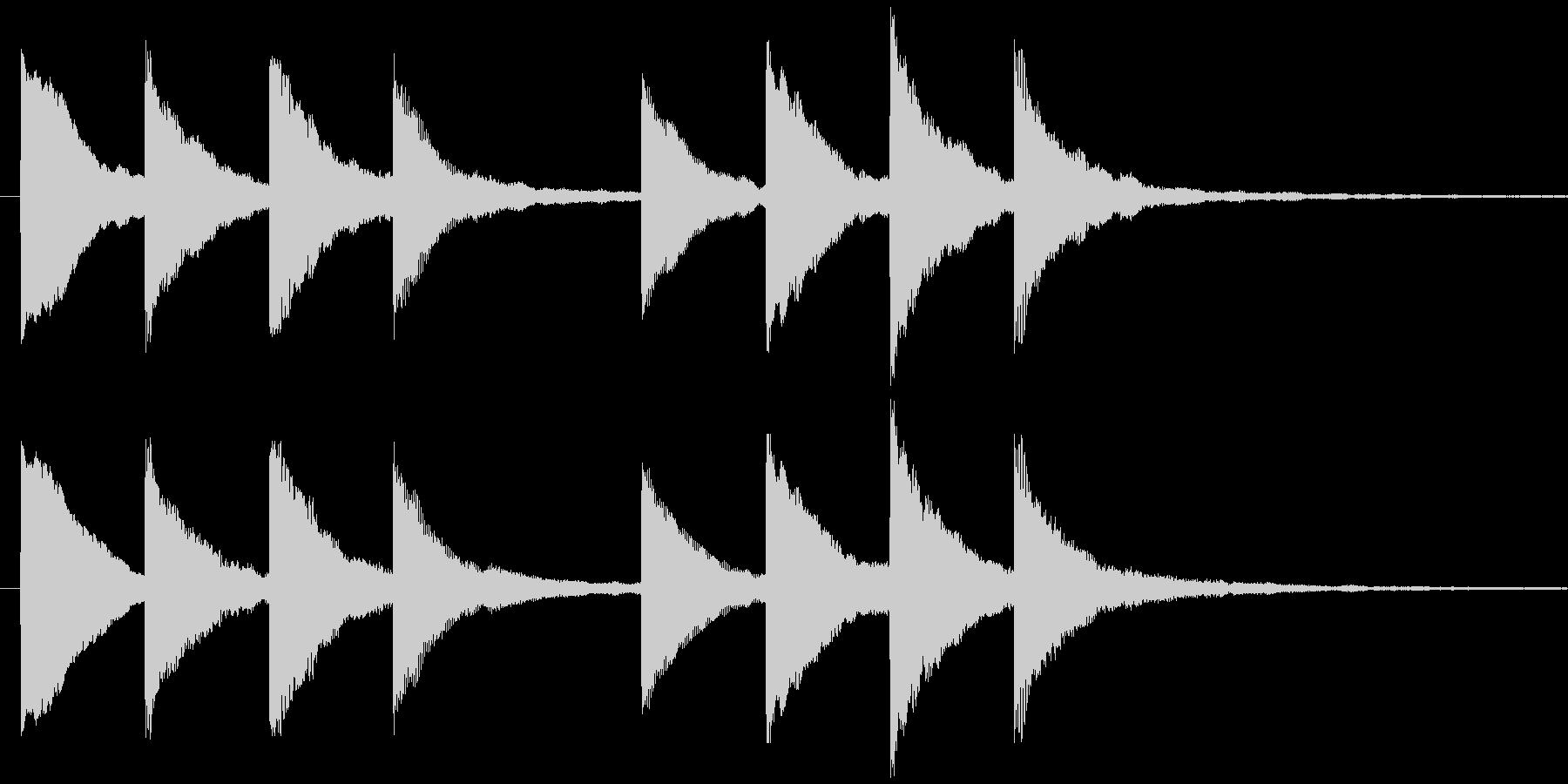 キンコンカンコン 学校チャイム2の未再生の波形