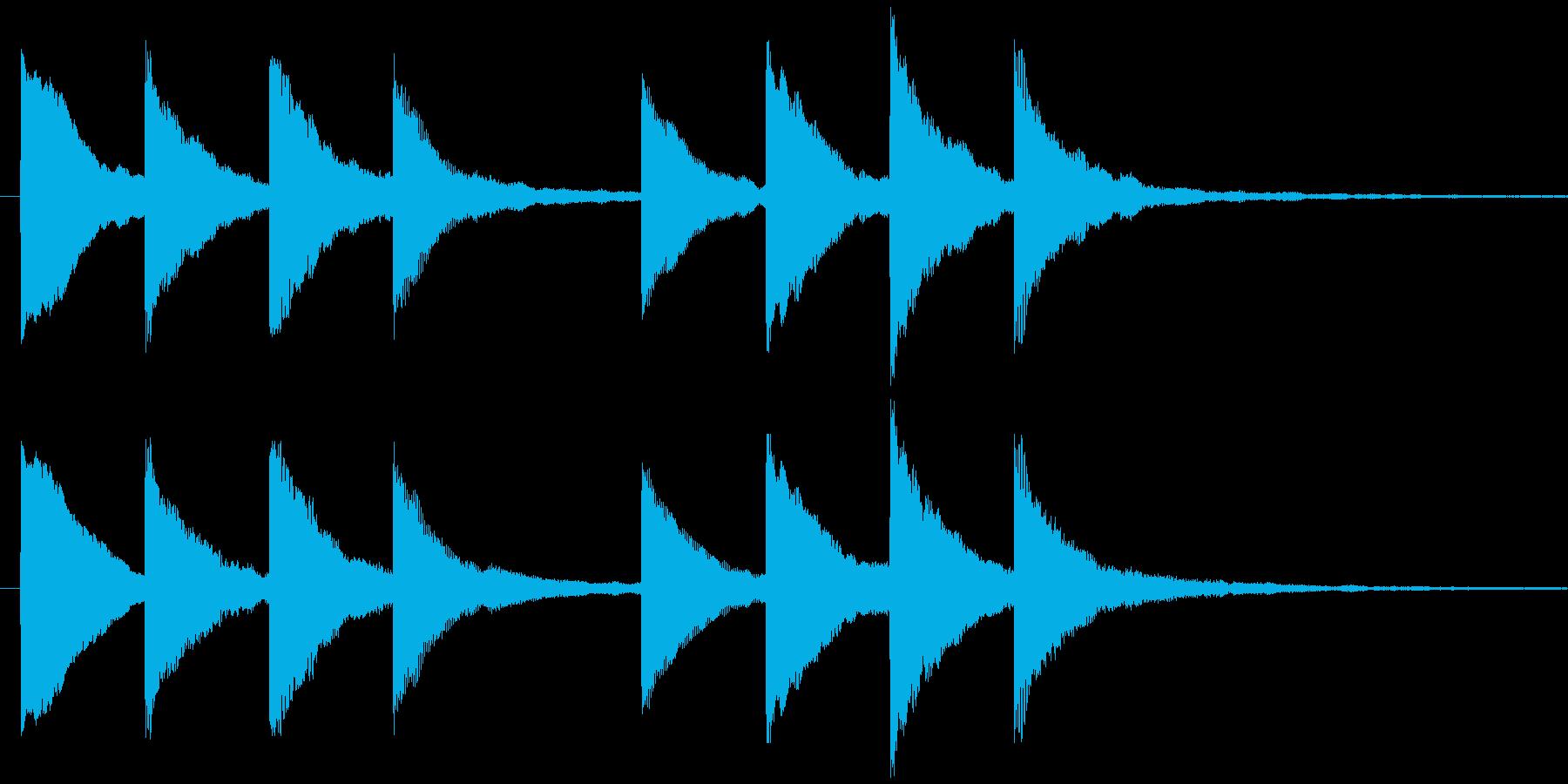 キンコンカンコン 学校チャイム2の再生済みの波形