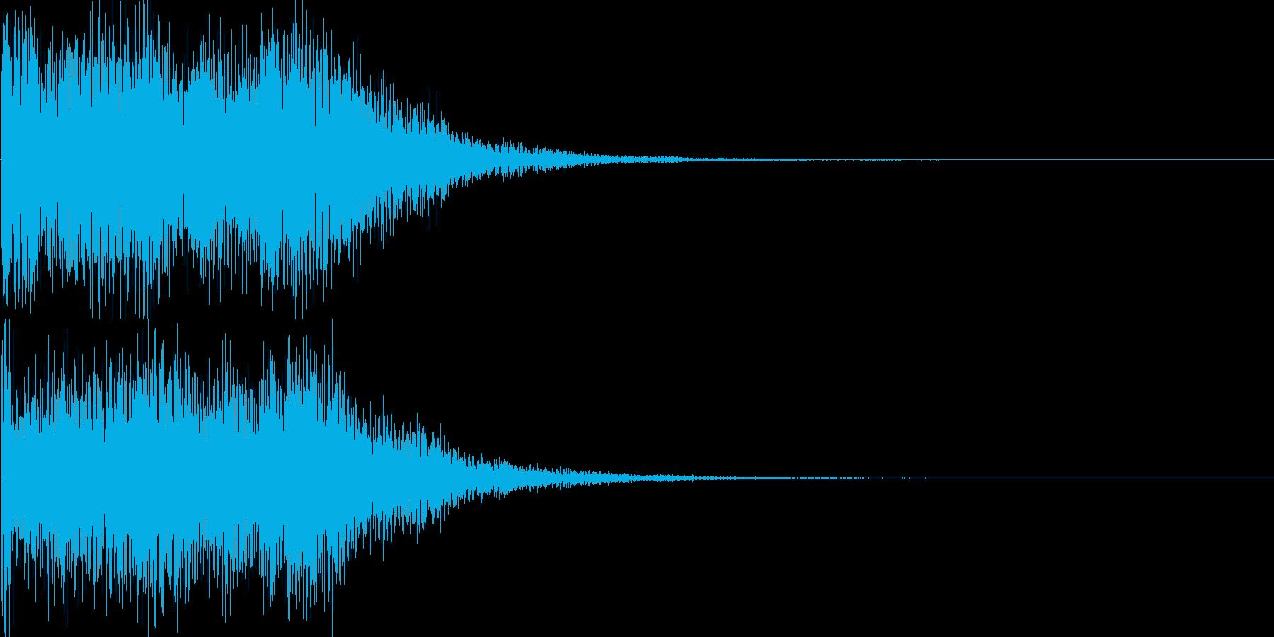 サウンドロゴ14(シンセ系)の再生済みの波形