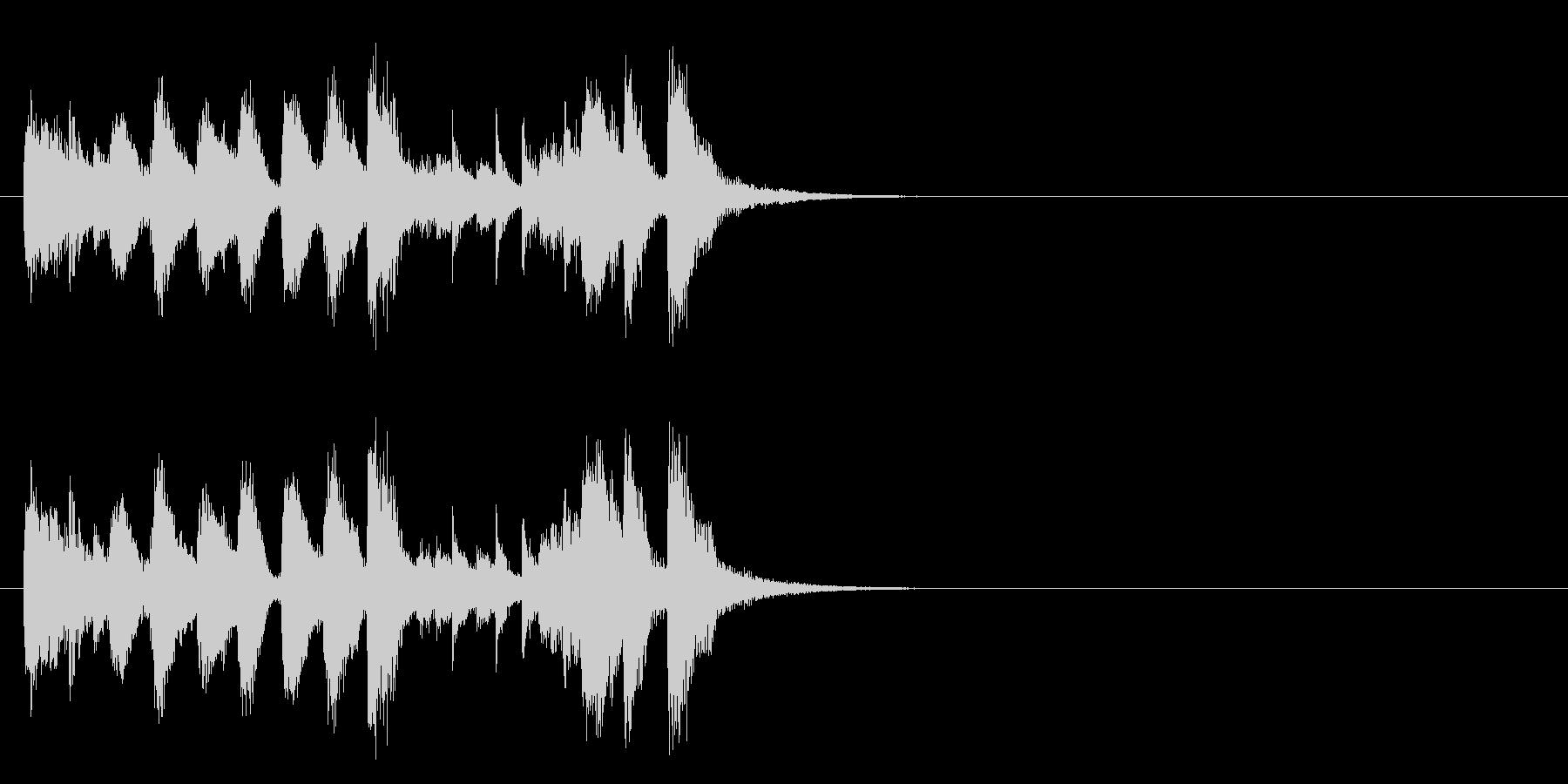 ジングル(ラグタイム風)の未再生の波形