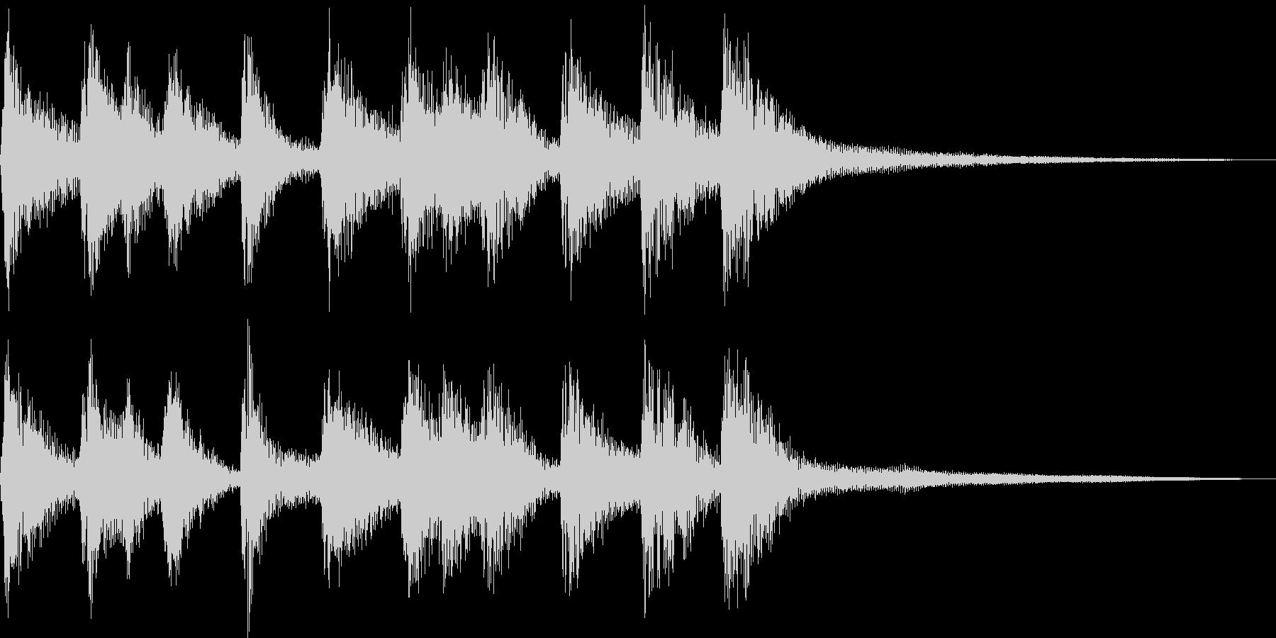 シンプルな三味線和風ジングル声有りの未再生の波形