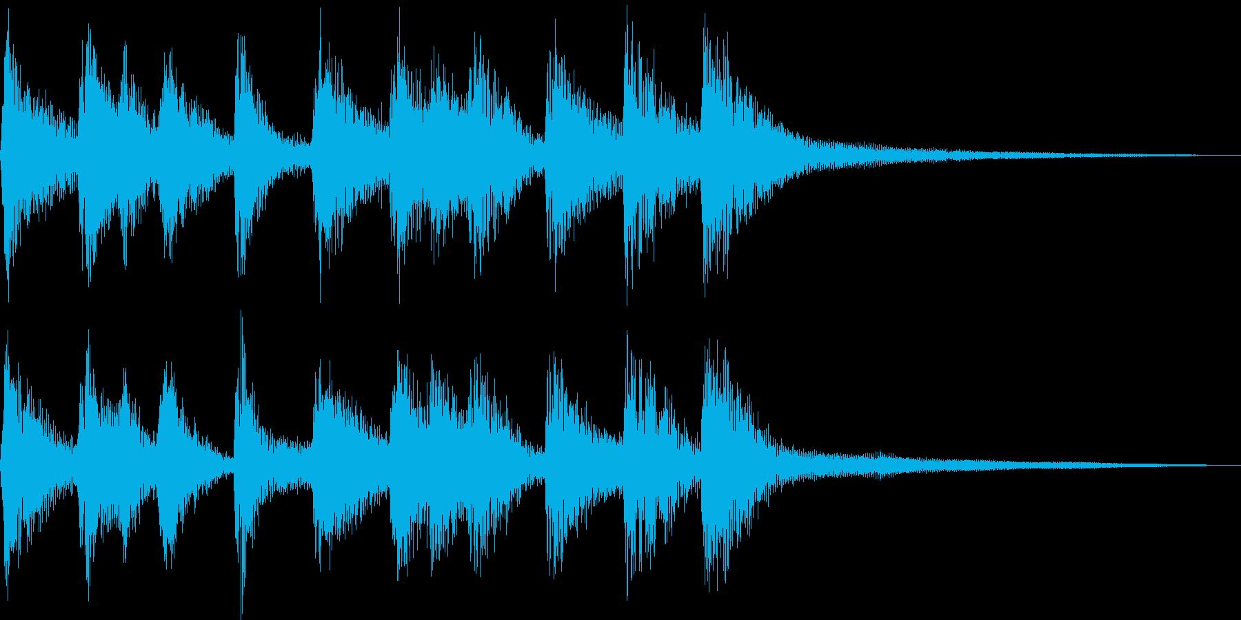 シンプルな三味線和風ジングル声有りの再生済みの波形