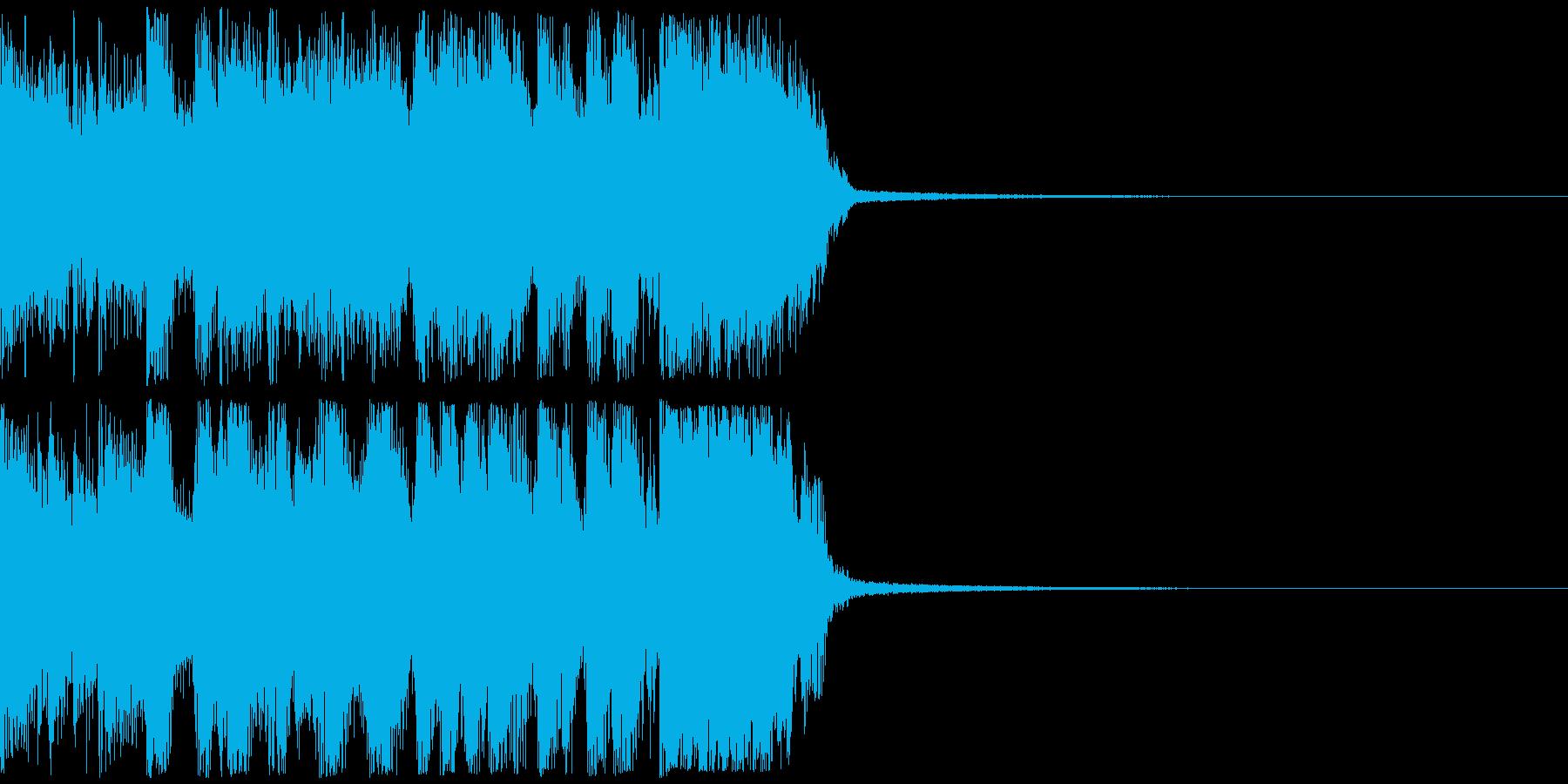 ロックギター&ブラスのジングル メジャーの再生済みの波形