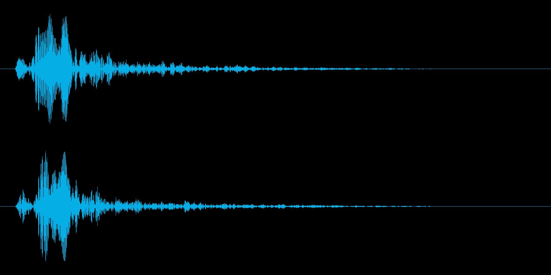 短い滴るような音(ピュッ)の再生済みの波形