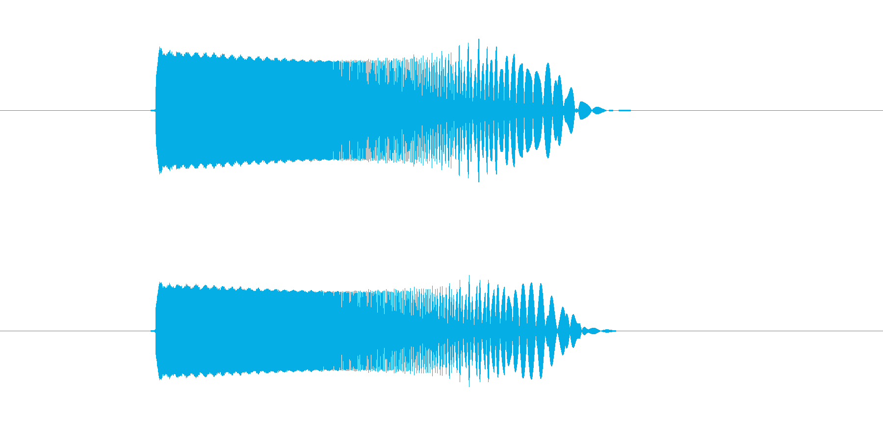 ピュルルル(スピード感のあるビーム音)の再生済みの波形
