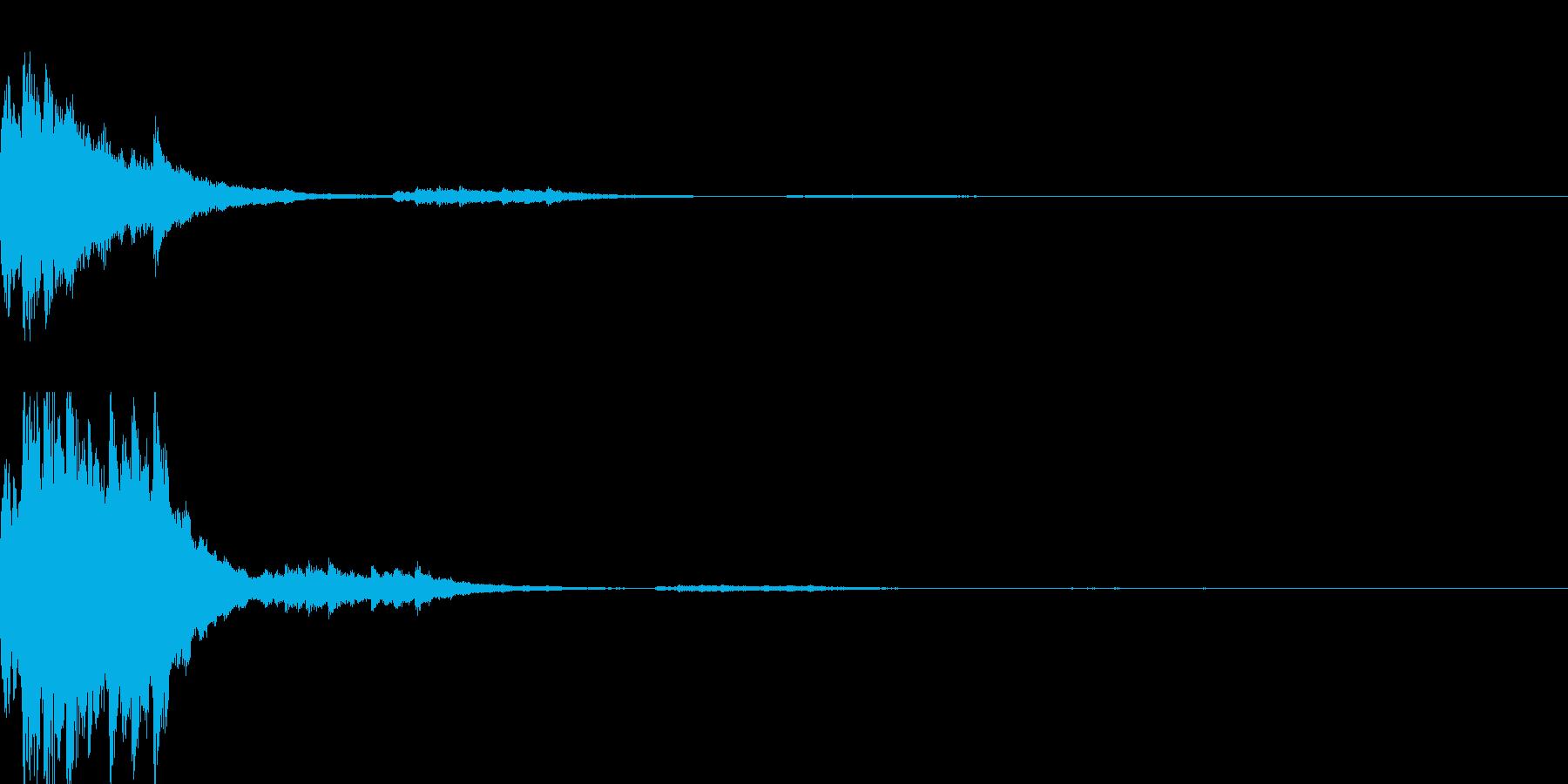 ゲームスタート音の再生済みの波形
