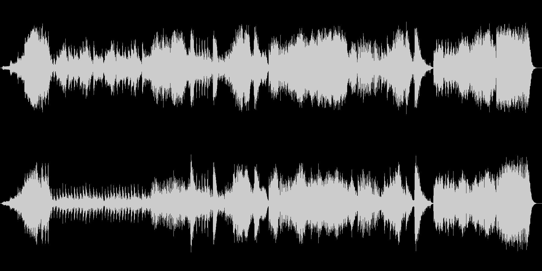 美しく勢いのあるシンセサイザーサウンドの未再生の波形