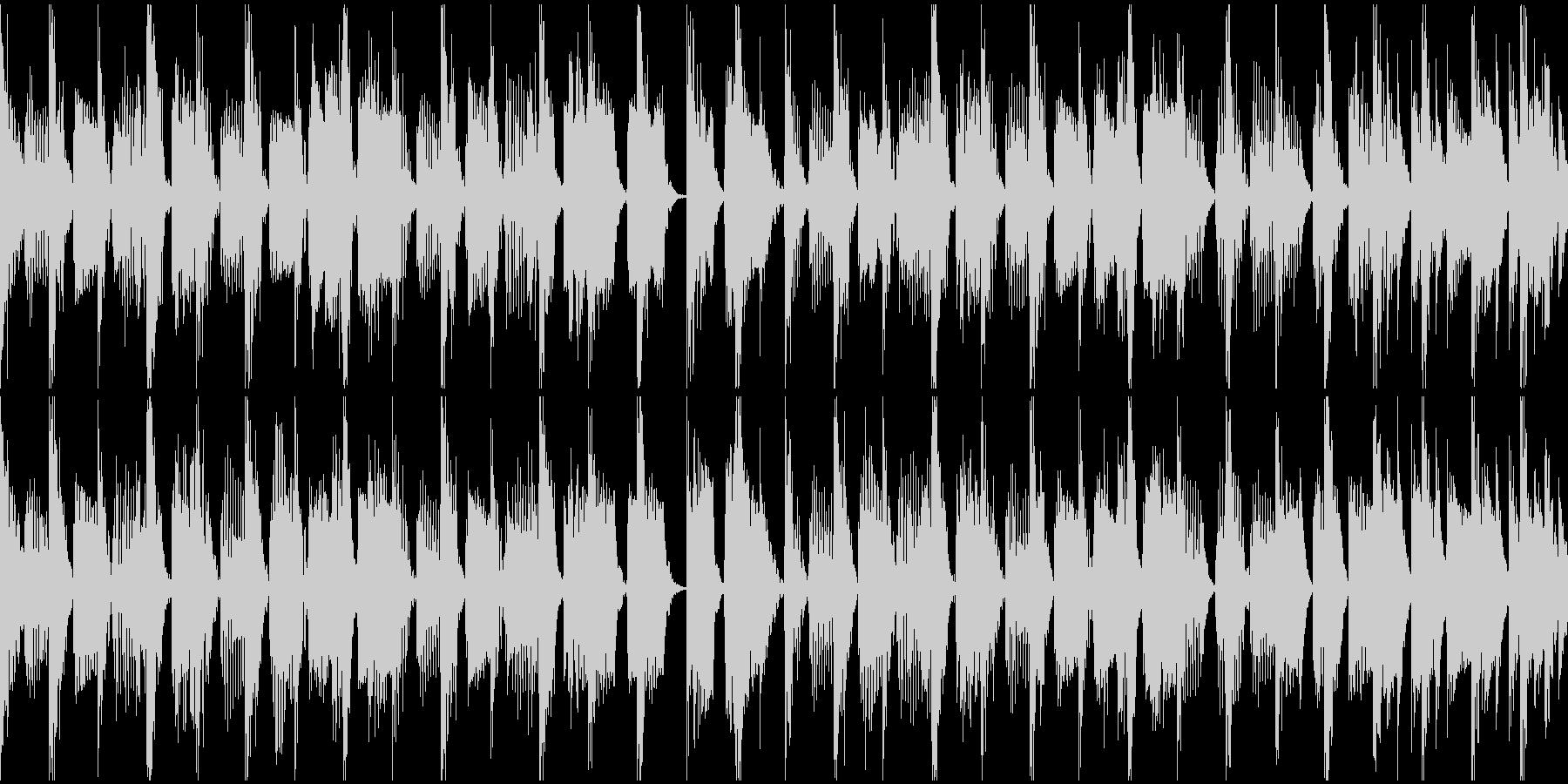 スプラ〇ゥーン風のチープなクラブサウンドの未再生の波形