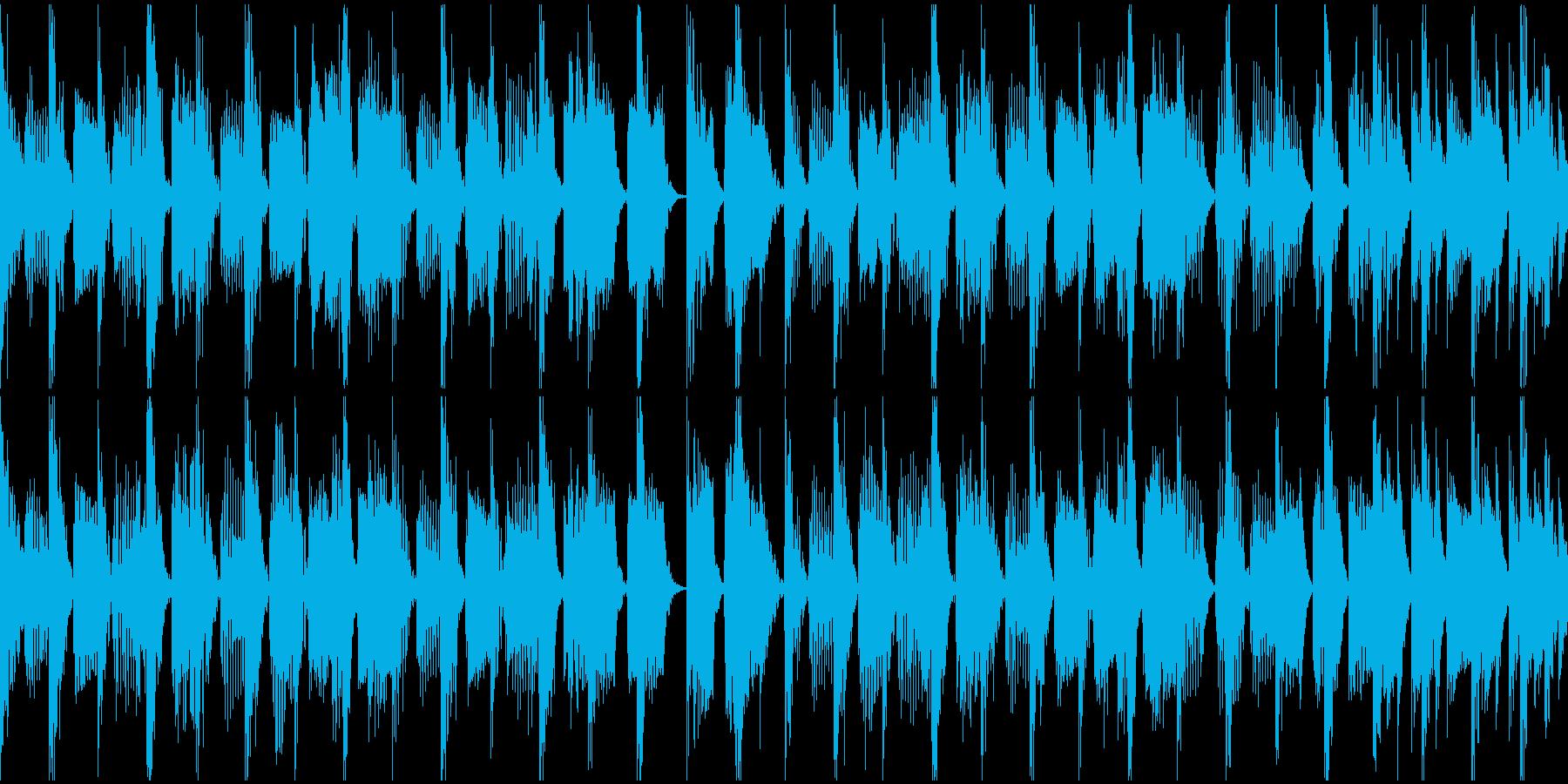 スプラ〇ゥーン風のチープなクラブサウンドの再生済みの波形